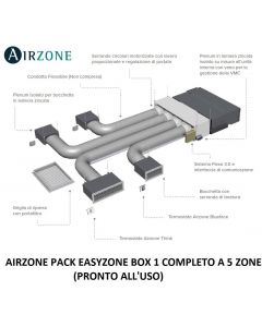 AIRZONE PACK EASYZONE BOX 1 COMPLETO A 5 ZONE (PRONTO ALL'USO)
